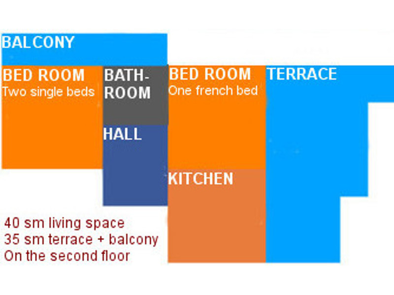 This is the groundplan of the apartment number 3.