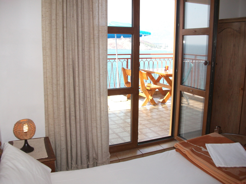 This ist the french bed room of the apartment number 3 with a big terrace in front.