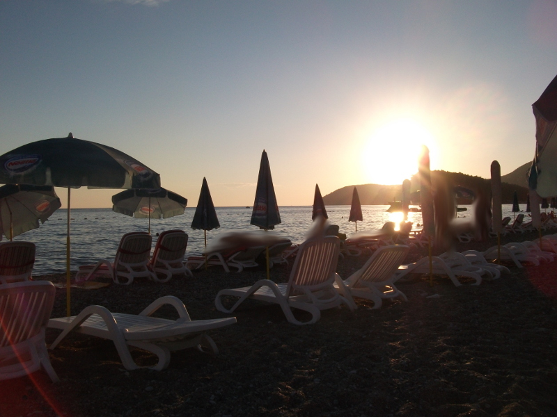Enjoy the sunsets at the sandy beach of Sutomore.